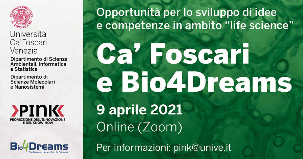 Workshop | Ca Foscari | PInK | Bio4Dreams