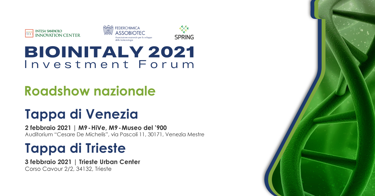 BioInItaly roadshow tappa Venezia Trieste